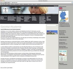 Alte Homepage von GEOVITAL