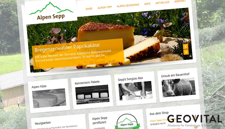 Alpensepp, Käse in hoher Qualität aus Vorarlberg