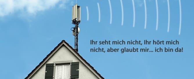 Mobilfunksender auf dem Dach
